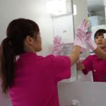 鏡のお掃除